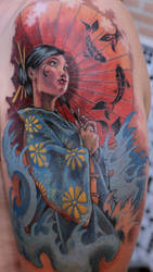 geisha 6 tattoo by mojoncio