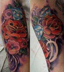 roses and diamonds by mojoncio