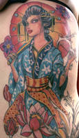 geisha tattoo 10 by mojoncio