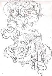 pinup sketch by mojoncio