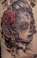 day of the dead tattoo 3 by mojoncio