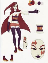 Red Character Sheet by Artemekiia