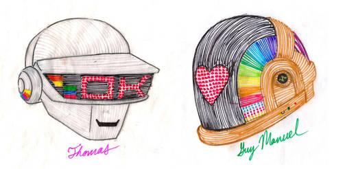 Daft Punk Embroidery Patterns by Artemekiia