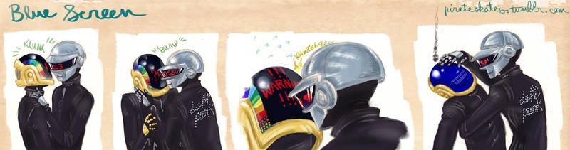 Daft Punk: Bluescreen by Artemekiia