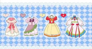 Dress Adoptables [Open 1/4] by VanillaCirque