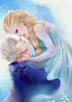 Jack frost Elsa by toritewa
