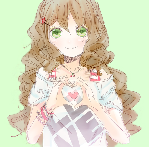 Curly Haired Anime Girl By H20pologirl33 On Deviantart