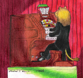 Lion Plays Wurlitzer in Color by HammondsNTrains