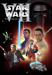 Star Wars Episode VII The Force Awakens DVD cover. by kriskeeuh