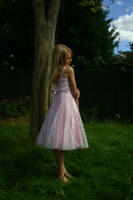 Girl in pink dress stock 3 by A68Stock
