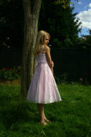 Girl in pink dress stock 4 by A68Stock