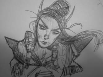 Rough Blood Elf Sketch by Distorrrted