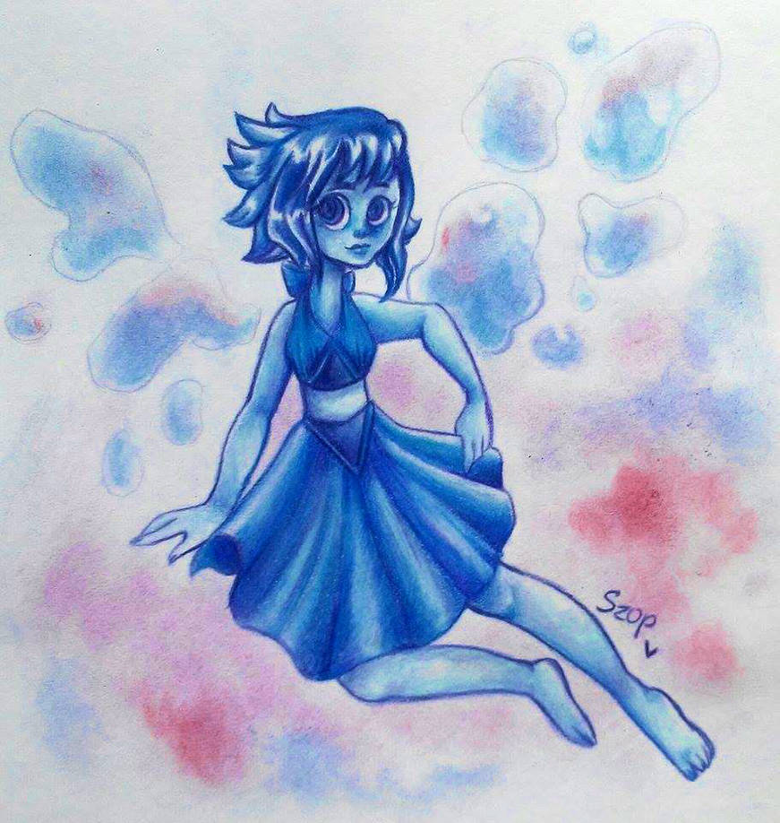 I draw Lapis Lazuli without the sketch what do you think about it? do you like it?