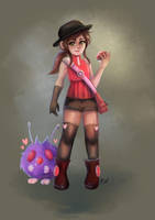 draw everyday challenge day 6 - POKEMON TRAINER by ISzopI