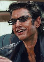 Jeff Goldblum digital portrait by Art--Tool