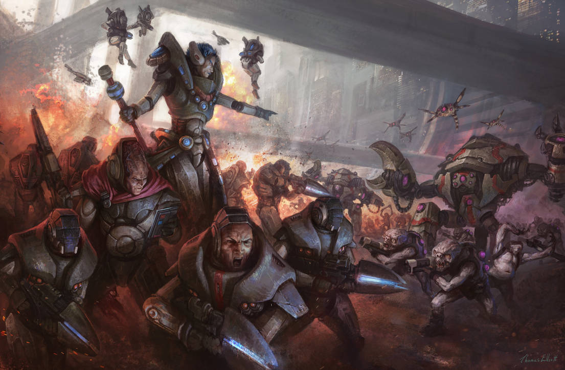 Gates of Antares Concord Battle Scene by Art--Tool