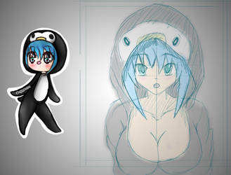 Penguin girl in my style by ItsPW