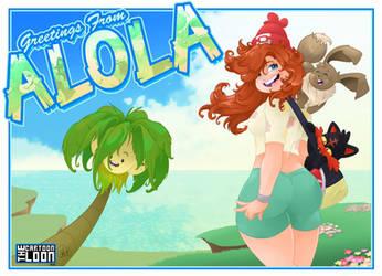 Allicia in Pokemon Sun/Moon by TheCartoonLoon