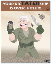 Hitlers dicTATERship is OVER by TheCartoonLoon