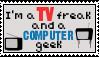 TV freak/Computer Geek Stamp by Savanah25