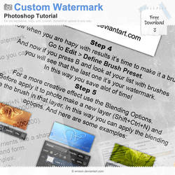 Custom Watermark Tutorial by Wnison