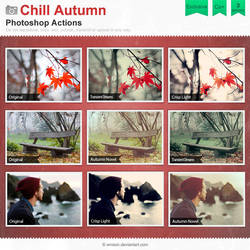 Chill Autumn Photoshop Actions by Wnison