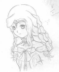 Sketch Work of Ophelia by psychoblackat