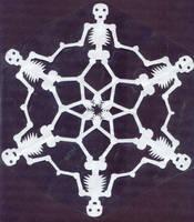 Calavera Snowflake by MuseumGirl