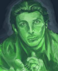 Christian Bale Portrait #2 by Tahlsou