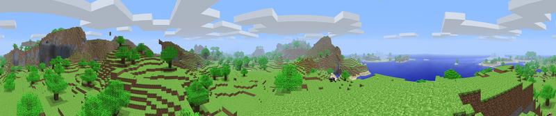 Minecraft Alpha Panorama by LockRikard