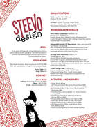 resume by STEEVOdesign