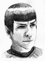 Spock sketch by the-physicist