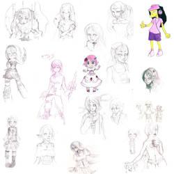 Sketch dump by Nekodollz