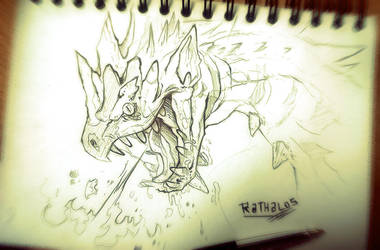 MH4_FANART Series_Rathalos by SophieOTTO