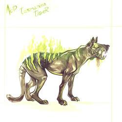 Acid Tasmanian Tiger by SophieOTTO