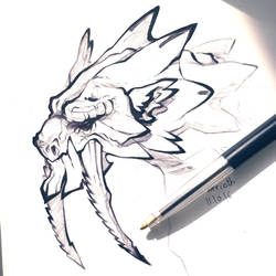 Barioth_Inktober 3 by SophieOTTO