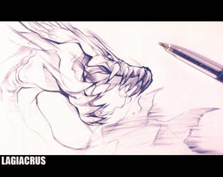 Lagiacrus_Inktober 4 by SophieOTTO