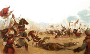 Battle of Montgisard by Giacobino