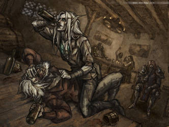 Thassarian and Koltira Drunk by Wuika