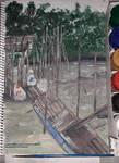 5th Painting - Fisherman's Village by nurannkara