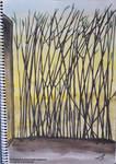 6th Painting - Black Bamboo by nurannkara