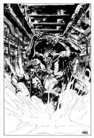 Exit_Man: Man-Ape Inks by Mooneyham