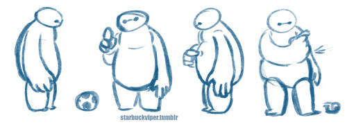 Baymax Doodles by StarbuckViper