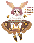 Moth Girl Adoptable Auction! CLOSED!! by rap1993