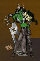 Asgardian She-Hulk by ChadFeldpausch