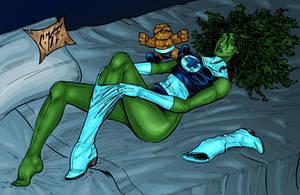 Fantastic She-Hulk Colored by ChadFeldpausch