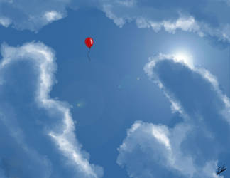 balloon in the sky by ErikAcosta