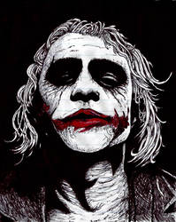 Heath Ledger (The Joker) by TomCatKid