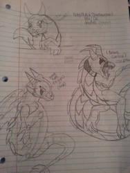 Shadowclaw dragon form doodl by NightShade2K16