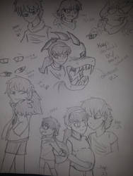 Katy's Parents and Childhood (Sketch Dump) PT.1 by NightShade2K16
